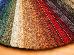 samples of carpet colors
