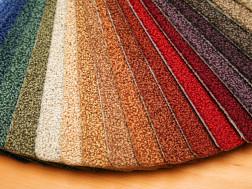 samples of carpet colors