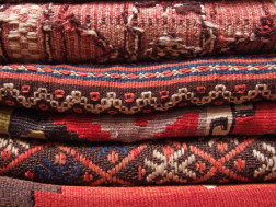 stack of area rugs